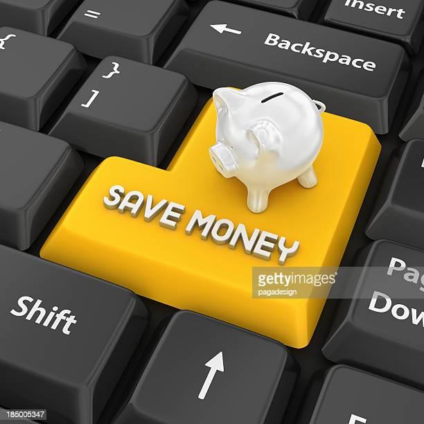Sparen Sie Geld Eingabetaste