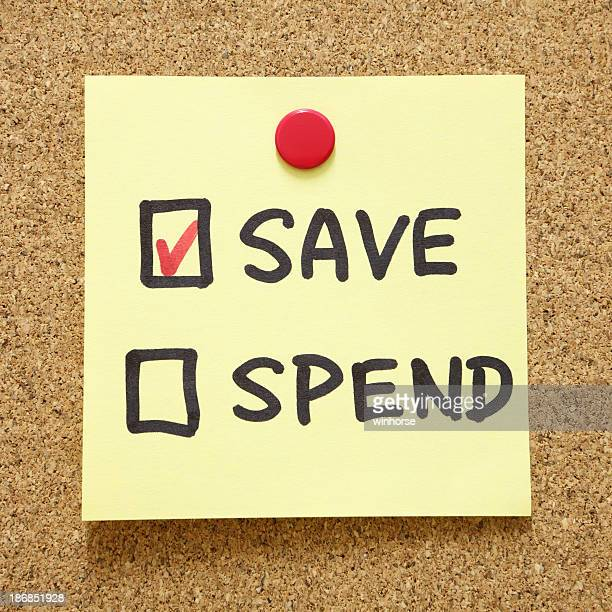 Save or spend options with the save option ticked