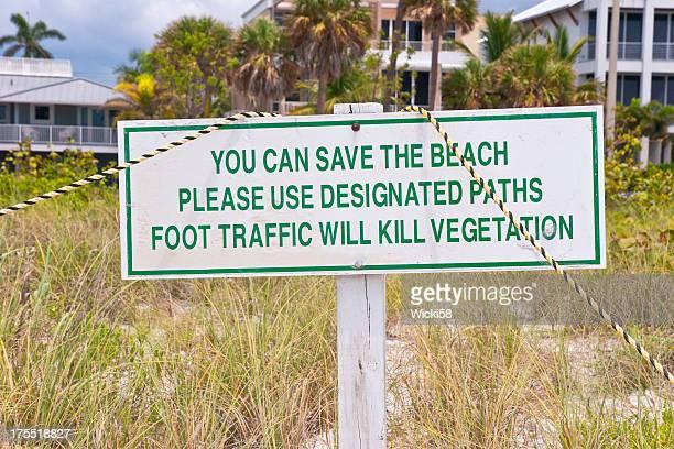Save The Beach Sign