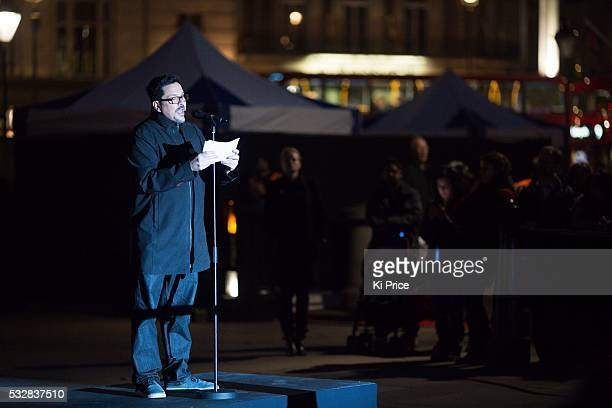 Save the Children Ambassador Dom Joly takes part in the #WithSyria campaign in Trafalgar Square He joins thousands of people across the world who are...