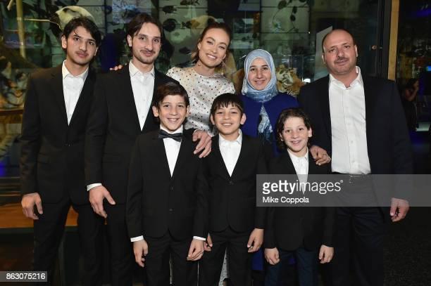 Save the Children ambassador Olivia Wilde and Syrian Refugees and Save the Children beneficiaries Faiqa Aloqla Ezaat Aloqla Faour Aloqla Bashar...