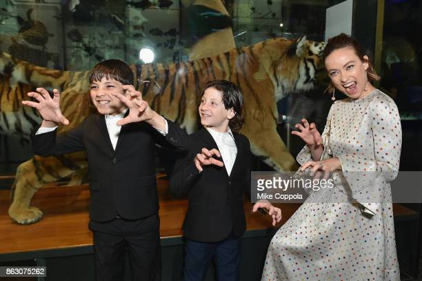 Save the Children ambassador Olivia Wilde and Syrian refugees and Save The Children beneficiaries Mahmoud Aloqla and Ziad Aloqla attend the 5th...