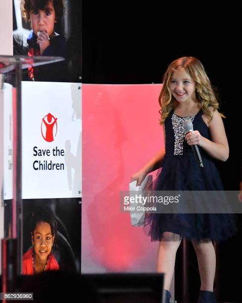 Save the Children beneficiary Anna Marie speaks onstage during the 5th Annual Save the Children Illumination Gala at the American Museum of Natural...