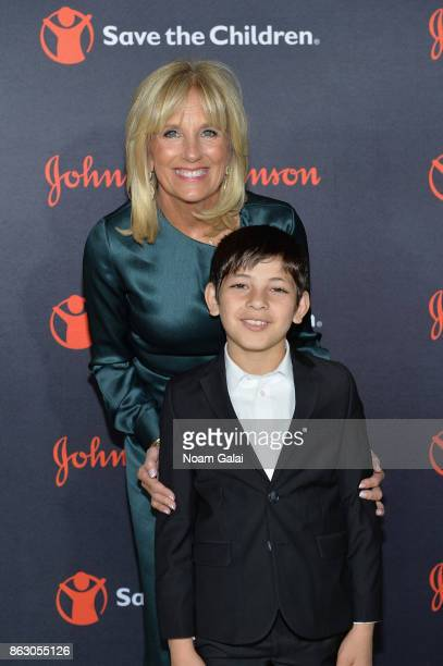 Save the Children Board Chair Dr Jill Biden and Syrian Refugee and Save the Children beneficiary Mahmoud Aloqla attend the 5th Annual Save the...