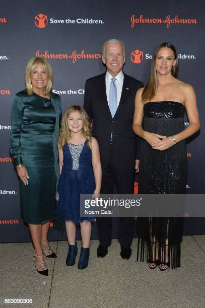 Save the Children Board Chair Dr Jill Biden Save the Children beneficiary Anna Marie former Vice President Joe Biden and Actress and Save the...