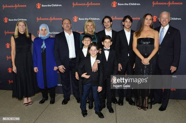 Save the Children President and CEO Carolyn Miles Save the Children Board Chair Dr Jill Biden Syrian Refugees and Save the Children beneficiaries...