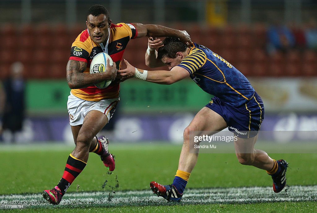 Save Tokula of Waikato in action during the round two ITM Cup Ranfurly Shield match between Waikato and Otago at Waikato Stadium on August 23 2013 in...