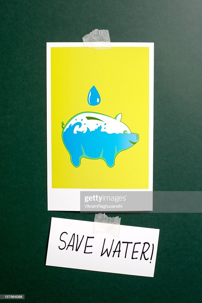 Save Water Poster : Stockfoto