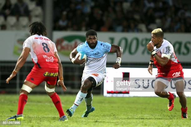 Savenaca Rawaca of Bayonne during the French Pro D2 match between Aviron Bayonnais and Grenoble on September 21 2017 in Bayonne France