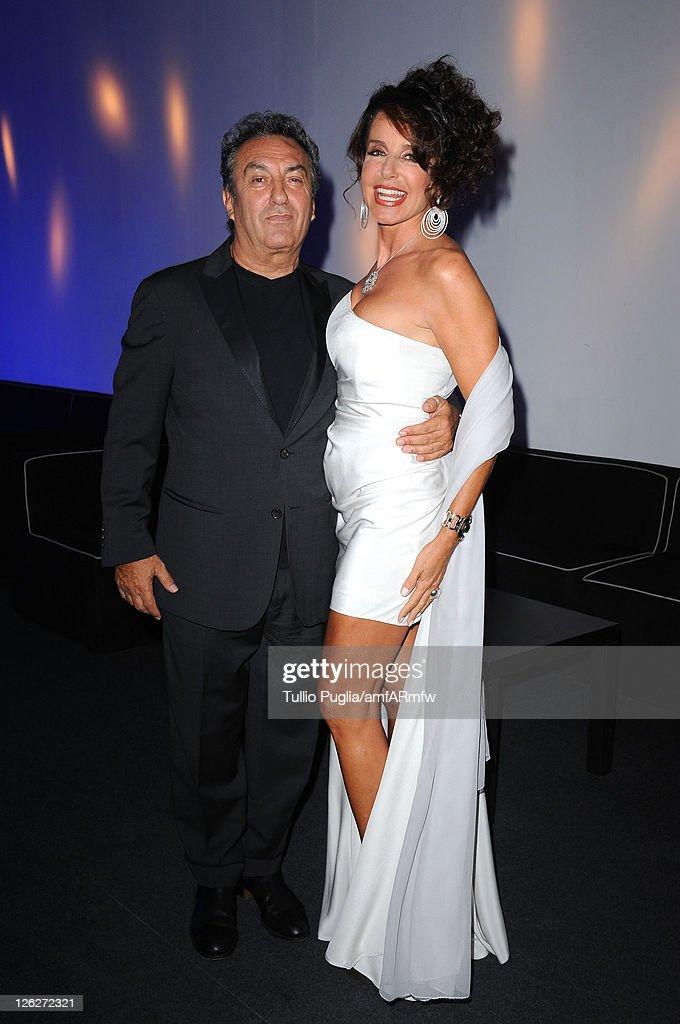 Saverio Moschillo (L) and Gabriella Dompe attend amfAR MILANO 2011 at La Permanente on September 23, 2011 in Milan, Italy.