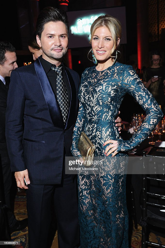 J.R. Savet (L) and Hofit Golan attend the amfAR New York Gala to kick off Fall 2013 Fashion Week at Cipriani Wall Street on February 6, 2013 in New York City.