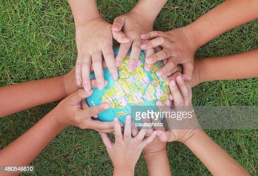 Guardar o mundo : Foto de stock