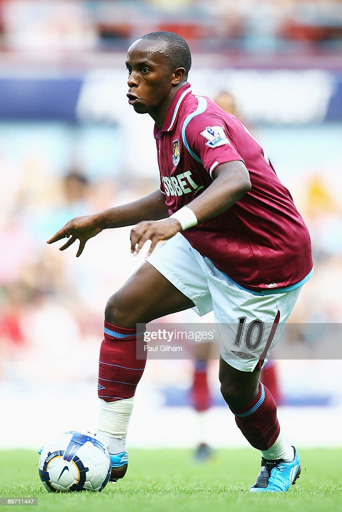 Savio of West Ham United in action during the Bobby Moore Cup between West Ham United and Napoli at Upton Park on August 8 2009 in London England