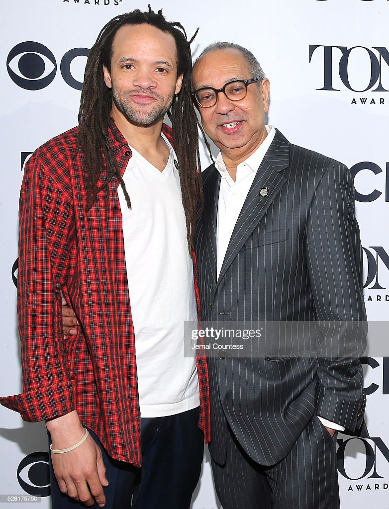 <a gi-track='captionPersonalityLinkClicked' href=/galleries/search?phrase=Savion+Glover&family=editorial&specificpeople=213578 ng-click='$event.stopPropagation()'>Savion Glover</a> (L) and <a gi-track='captionPersonalityLinkClicked' href=/galleries/search?phrase=George+C.+Wolfe&family=editorial&specificpeople=206433 ng-click='$event.stopPropagation()'>George C. Wolfe</a> attend the 2016 Tony Awards Meet The Nominees Press Reception on May 4, 2016 in New York City.