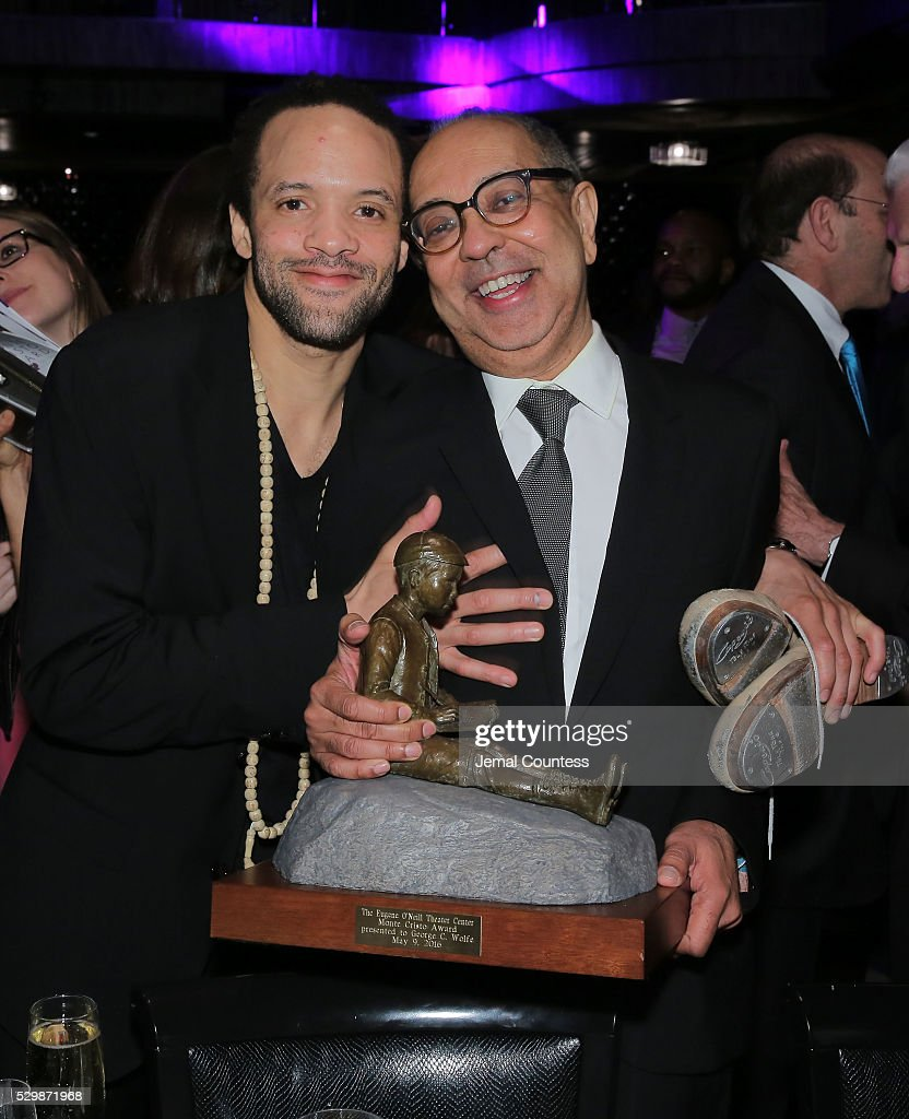 Savion Glover and honoree George C Wolfe attend the 16th Annual Monte Cristo Award ceremony honoring George C Wolfe presented by The Eugene O'Neill...
