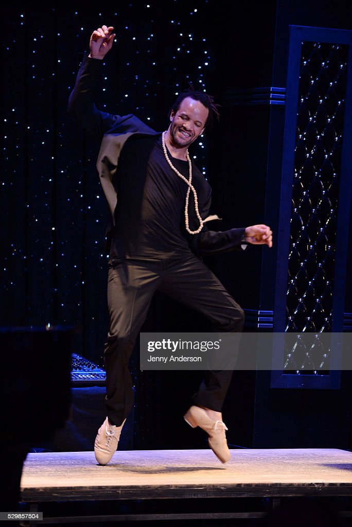 Savion Glover performs onstage at the 16th Annual Monte Cristo Award ceremony honoring George C Wolfe presented by The Eugene O'Neill Theater Center...