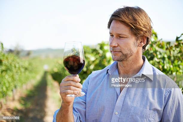 Savoring a fine wine