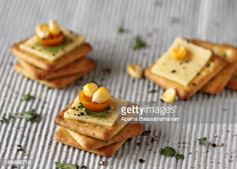 Savory canapes stock photo getty images for Types of canape bases