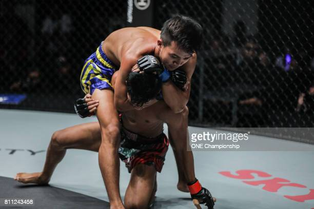 Saw Min Min was crowned the ONE Myanmar Flyweight Tournament Champion during ONE Championship Light Of A Nation at the Thuwunna Indoor Stadium on...