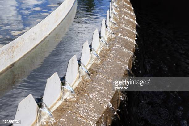 Saw Tooth Weir at water treatment plant