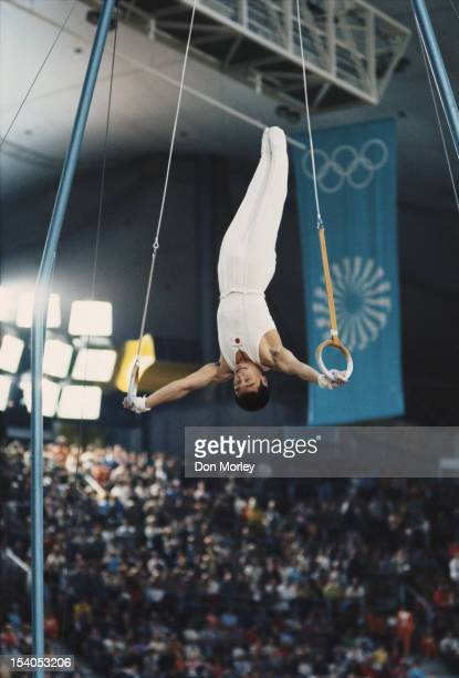 Sawao Kato of Japan during the Men's Individual AllAround event on 30th August 1972 during the XX Olympic Summer Games at the Sports Hall Olympic...