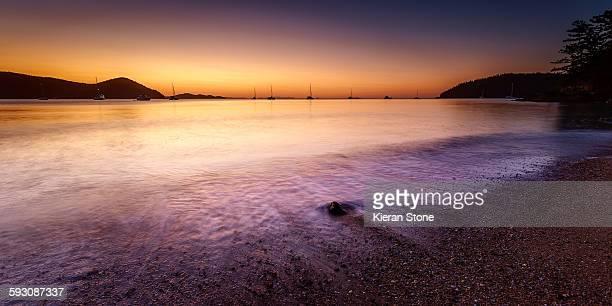 Sawmill Beach sunset - Whitsunday Island