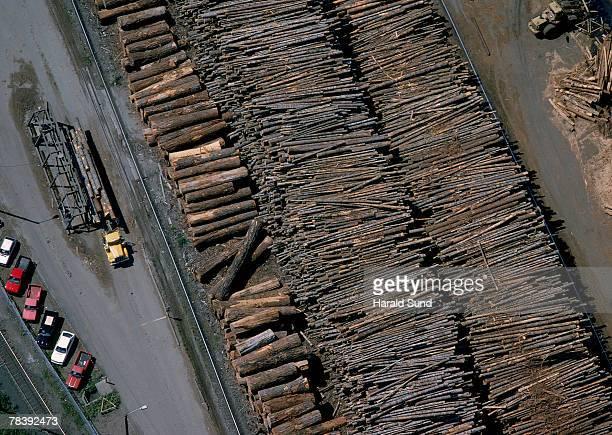 Sawmill log deck