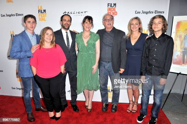 Sawyer Barth Rebecca Green Vincent Grashaw Melanie Lynskey Jim Shepard Laura Smith and Aram Darbo attend premiere of 'And Then I Go' during 2017 Los...