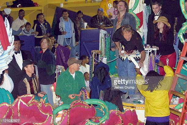 Sawyer Brown on a float during the Orpheus parade during Mardi Gras New Orleans 2005 at Orpheus Parade Gallier Hall St Charles Avenue in New Orleans...