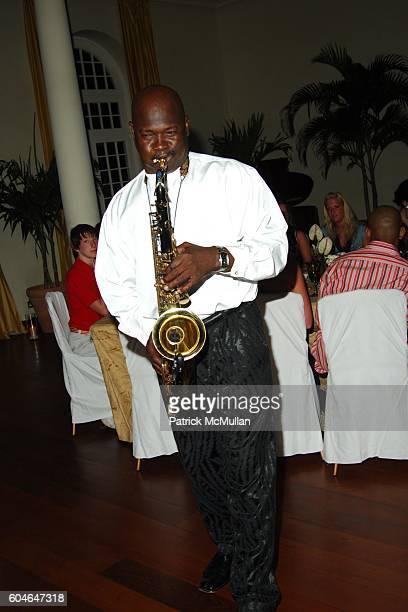 Sax Solo attends Raffles Resort Canouan Island Dinner at The Villa Monte Carlo Grand Ballroom at Raffles Resort on April 1 2006 in Canouan Island The...