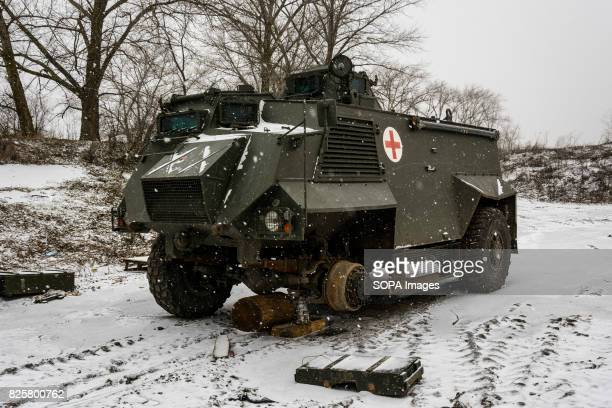 Saxon armoured car supplied by the British is pictured as it is a part of nonlethal aid package Ukrainians laugh at these cumbersome machines and...