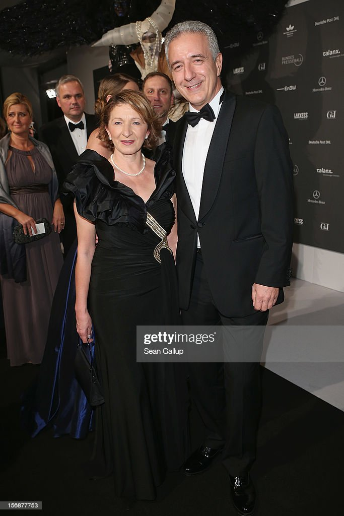 Saxony Governor Stanislaw Tillich and his wife Veronika attend the 2012 Bundespresseball (Federal Press Ball) at the Intercontinental Hotel on November 23, 2012 in Berlin, Germany.