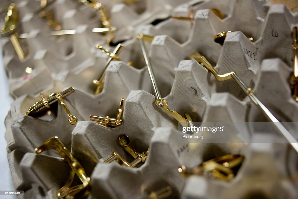 Saxophone parts are separated in an egg carton before assembly in the manufacturing department of the E.K Blessing Co. in Elkhart, Indiana, U.S., on Thursday, Feb. 7, 2013. Photographer: Ty Wright/Bloomberg via Getty Images
