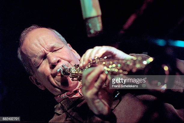 Saxophone player Steve Lacy performs on June 16th 2000 at the North Sea Jazz Festival in the Hague Netherlands