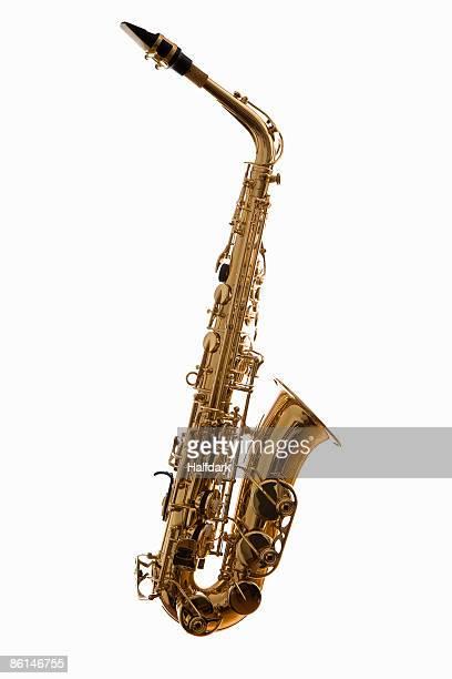 A saxophone, studio shot