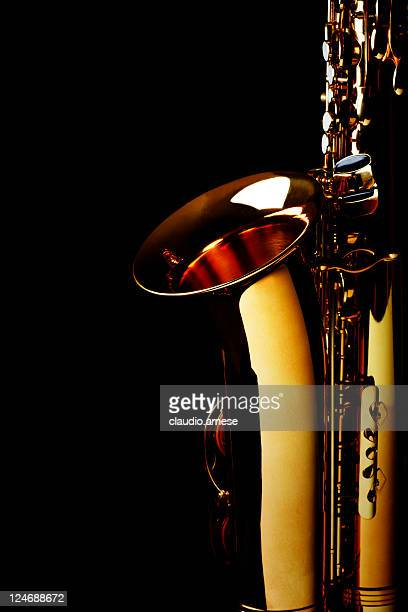 Saxophone with Black Background. Color Image