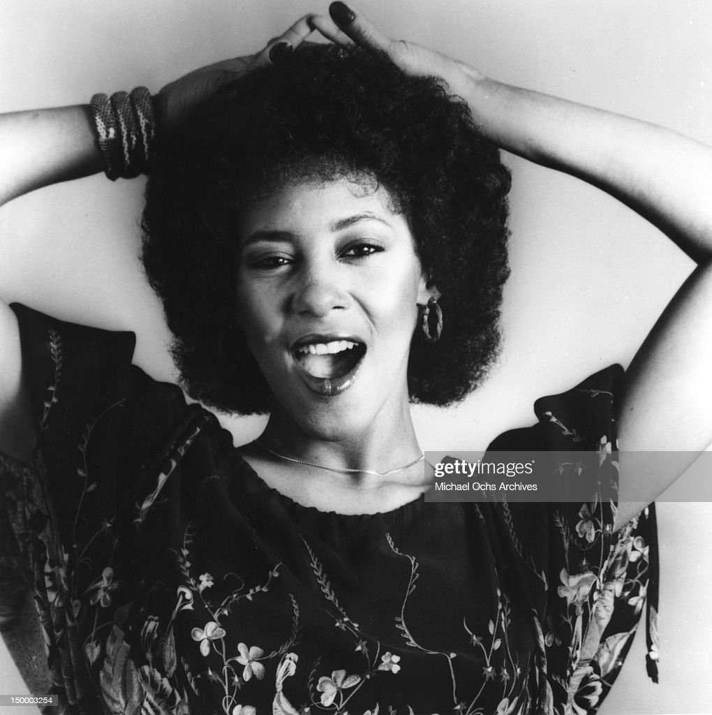 Saxophonist and singer Cynthia Johnson of the disco group 'Lipps, Inc.' poses for a portrait in circa 1978.