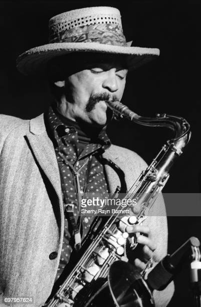 Saxophonist Gene Dinwiddie of The Butterfield Blues Band performs onstage at the Monterey International Pop Festival on June 17 1967 in Monterey...