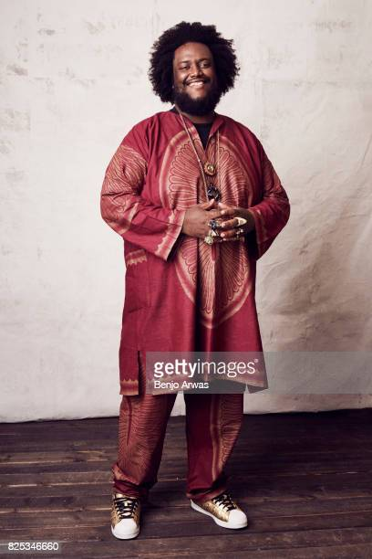 Saxophonist Kamasi Washington of PBS's 'Chasing Trane' poses for a portrait during the 2017 Summer Television Critics Association Press Tour at The...