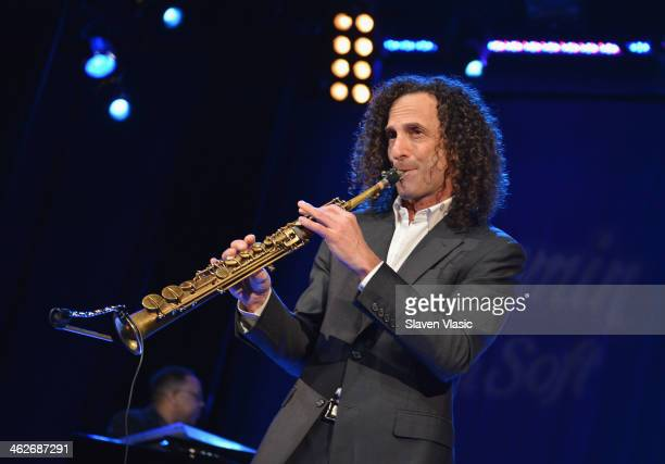 Saxophonist Kenny G performs at Hard Rock Cafe Times Square on January 14 2014 in New York City