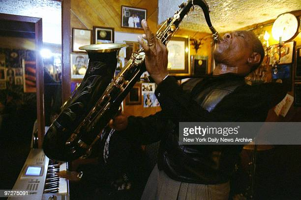 Saxophonist Lonnie Youngblood performs at Sylvia's restaurant in Harlem