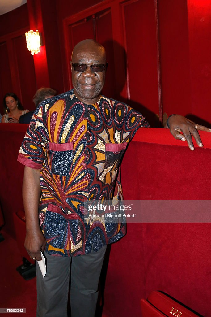 Saxophonist <a gi-track='captionPersonalityLinkClicked' href=/galleries/search?phrase=Manu+Dibango&family=editorial&specificpeople=768914 ng-click='$event.stopPropagation()'>Manu Dibango</a> attends the Franck Sorbier show as part of Paris Fashion Week Haute Couture Fall/Winter 2015/2016. Held at Theatre Hebertot on July 8, 2015 in Paris, France.