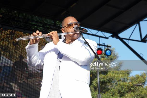 Saxophonist Najee performs onstage at the Long Beach Jazz Festival at Rainbow Lagoon Park on August 13 2017 in Long Beach California