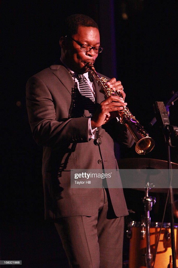 Saxophonist Ravi Coltrane performs at The Museum of Modern Art's Jazz Interlude Gala After Party at MOMA on December 12, 2012 in New York City.