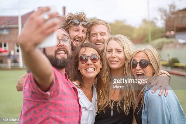 Say Cheese! Shooting Selfie Best Friends Having Fun