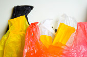 Say No To Plastic Bags - No More Plastic Concept isolated white background