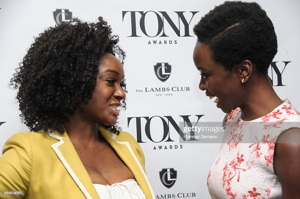 <a gi-track='captionPersonalityLinkClicked' href=/galleries/search?phrase=Saycon+Sengbloh&family=editorial&specificpeople=2235783 ng-click='$event.stopPropagation()'>Saycon Sengbloh</a> and Dana Gurira attend A Toast To The 2016 Tony Awards Creative Arts Nominees at The Lambs Club on May 24, 2016 in New York City.