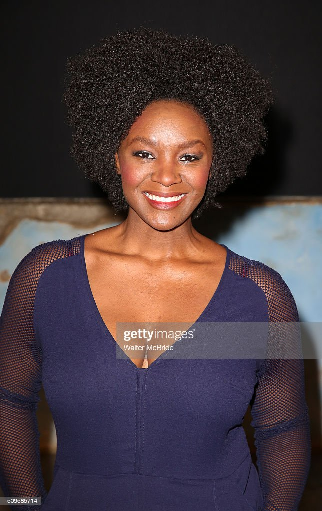 Saycon Sengbloh attends the meet and greet the all-female cast and creative team and launch of the 10,000 girls initiative of Broadway's 'Eclipsed' at the Golden Theatre on February 11, 2016 in New York City.