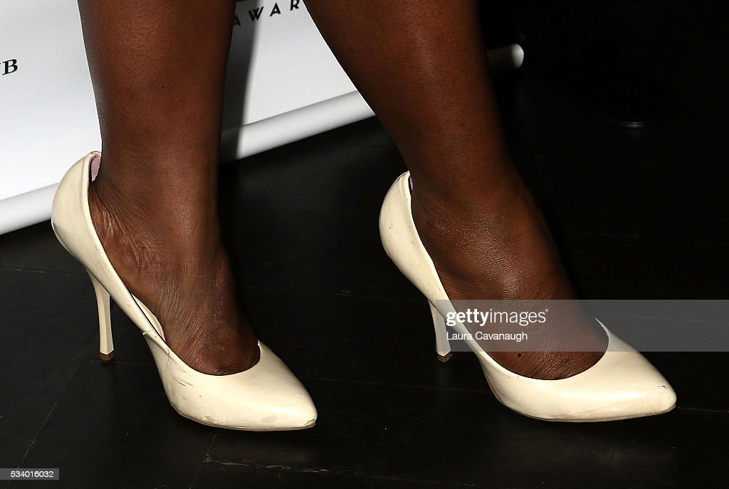 Saycon Sengbloh, shoe detail, attends A Toast to The 2016 Tony Awards Creative Arts Nominees on May 24, 2016 in New York City.