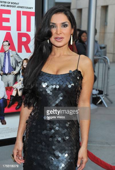 Saye Yabandeh arrives at the Screening of Magnolia Pictures' 'I Give It A Year' at ArcLight Hollywood on August 1 2013 in Hollywood California